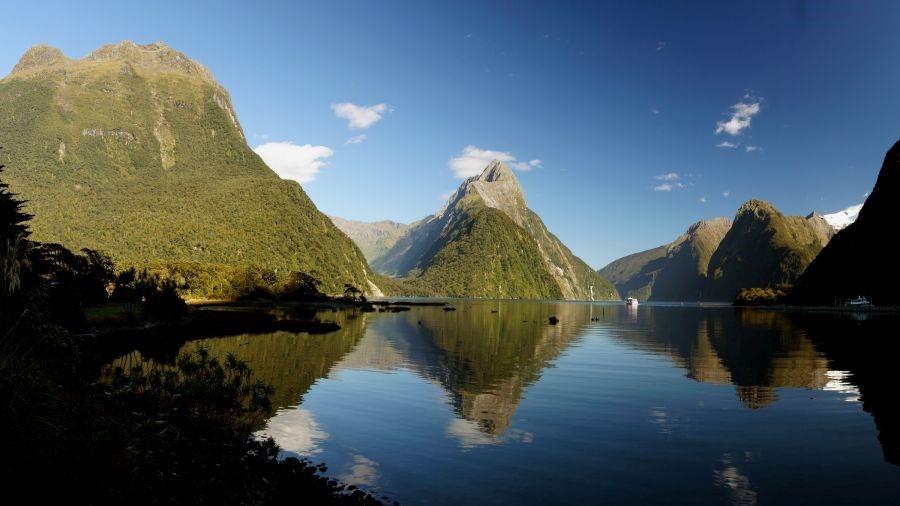 Krachtplaats Milford Sound St. Island New Zealand